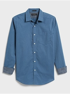 Slim-Fit Soft-Wash Print Shirt