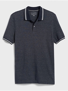 Tipped Collar Pique Polo