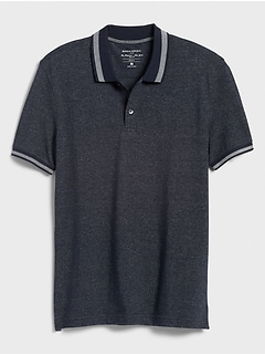 Slim-Fit Tipped Collar Pique Polo