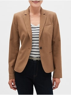 Machine Washable Camel Classic Blazer