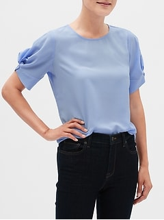 Twist Sleeve Top