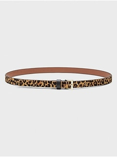 Cheetah Calf Hair Belt