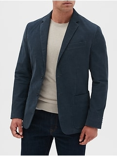 Slim-Fit Corduroy Blazer