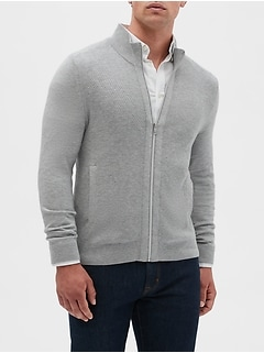 Thermal Mock Neck Sweater