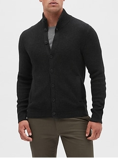 Mock Neck Button Down Sweater