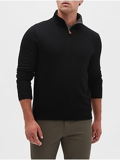 Brushed Half Zip Pullover