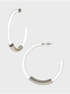 Clear Hoop Earrings