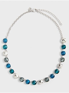 Multi Gem Statement Necklace