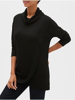 LuxeSpun Cross-Front Pullover Top