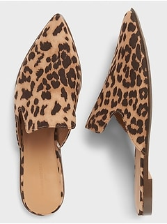 Animal Print Closed Toe Mule