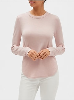 LuxeSpun Curved Hem Top