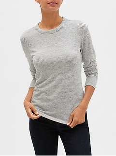Stripe LuxeSpun Curved Hem Top