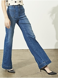 High Rise Wide Leg Medium Wash Jean