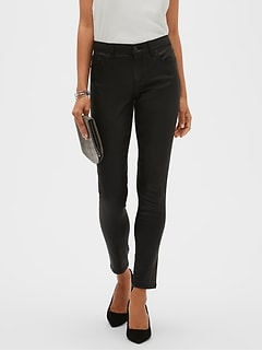 Petite Black Coated Skinny Jean