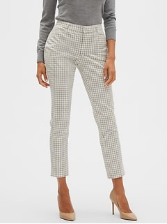 Curvy Sloan Windowpane Slim Ankle Pant