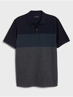 Birdseye Blocked Dress Polo
