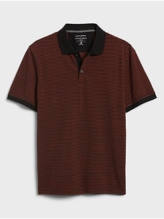 Slim-Fit Mini Stripe Pique Polo