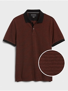 Mini Stripe Pique Polo