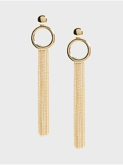 Chain Main Drop Earrings