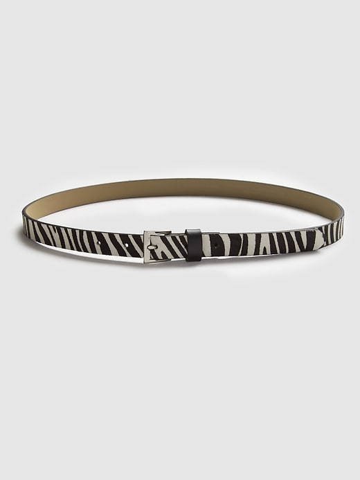 Zebra Calf Hair Belt by Banana Repbulic