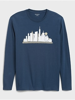 City Landscape Graphic T-Shirt