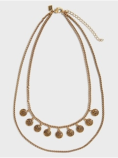 Antique Champagne Pave Necklace
