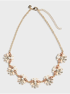Pearl Garden Statement Necklace