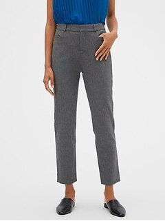 Petite High Rise Sloan Charcoal Heather Slim Ankle Pant