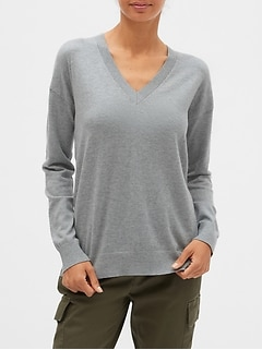 Petite Premium Luxe Washable V-Neck Sweater