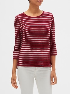 Stripe Malibu Step-Hem Top