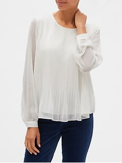 Released Pleated Top
