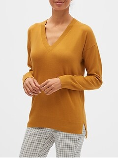 Premium Luxe Washable V-Neck Sweater