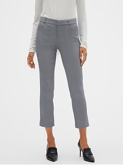 Petite Sloan Twill Check Slim Crop Pant