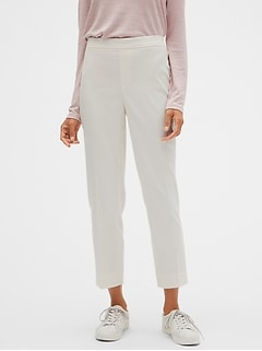 Petite Hayden Pull-On Brushed Twill Ankle Pant