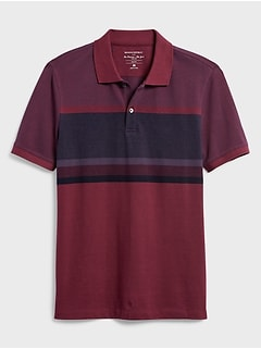 Slim-Fit Birdseye Blocked Stripe Pique Polo