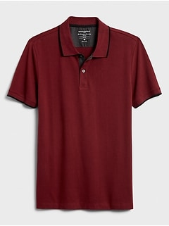Slim-Fit Stripe Pique Polo