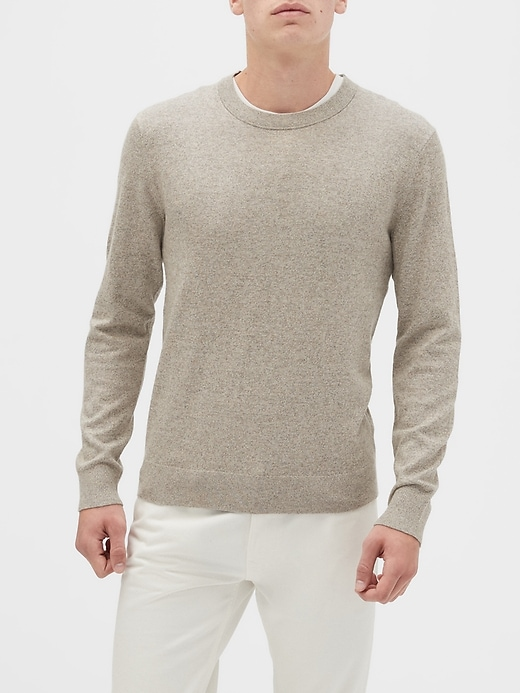 premium-luxe-crew-neck-sweater by banana-repbulic