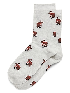 Bears On Bikes Trouser Socks