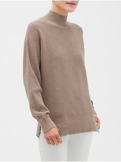 Mixed Stitch Turtleneck Sweater