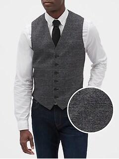 Slim-Fit Stretch Grey Glenn Vest