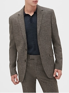 Slim-Fit Tweed Blazer