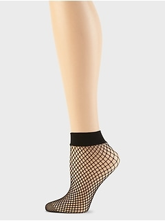 Fishnet Sheer Bootie Socks