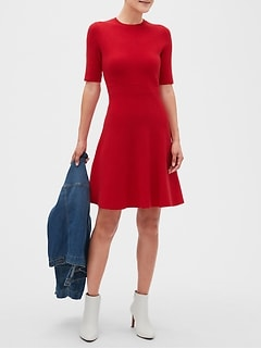 Petite Ribbed Sweater Dress