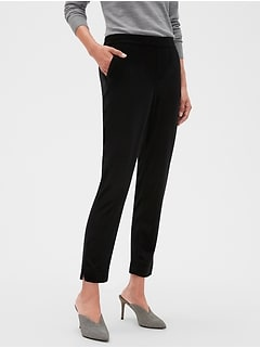 Hayden Pull-On Velvet Ankle Pant
