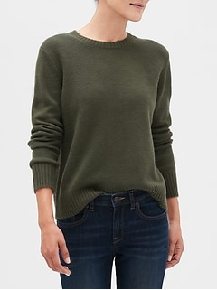 Petite Lofty Crew Neck Sweater