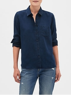 Untucked Chambray Tencel Shirt