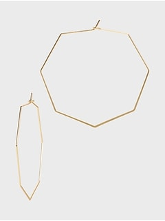 Delicate Octagon Earrings
