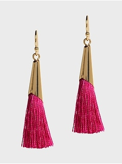Colored Fringe Earrings