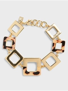 Square Resin Pull Through Bracelet