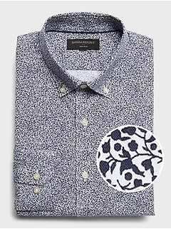 Standard-Fit Non-Iron Print Shirt